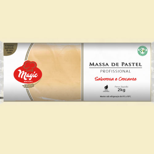 Massa de Pastel Rolo Magic Massas 2kg