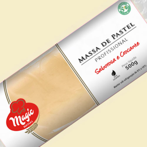 Massa de Pastel Magic Massas Rolo 500g