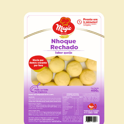 Nhoque de Batata Magic Massas Recheado de Queijo 400g